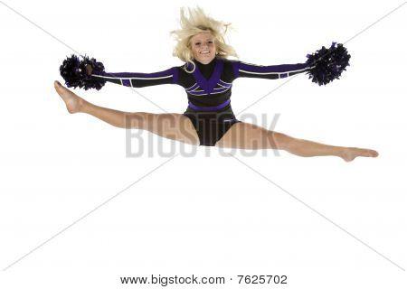 Cheerleader Splits In The Air