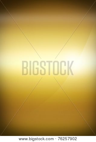 Gold Polished Metal Background Texture