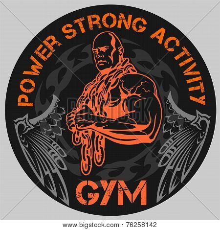 GYM Bodybuilding - vector emblem