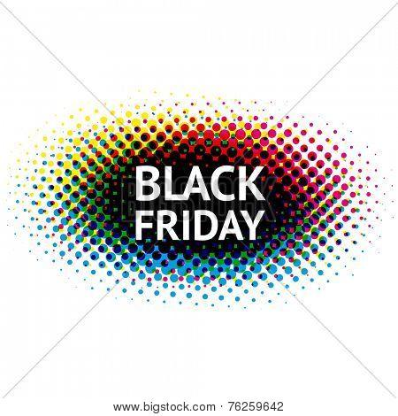Abstract dots black Friday sign