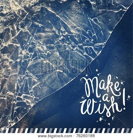 Inspirational Typographic Quote - Make a wish