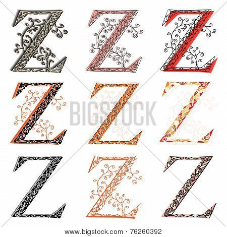 Various Combination Fishnet Letter Z.
