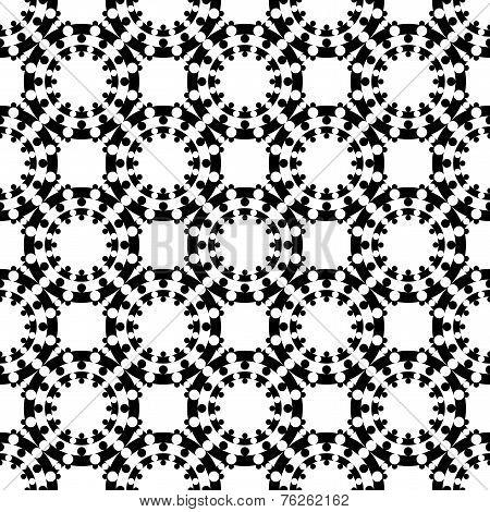 Design Seamless Monochrome Geometric Lattice Background