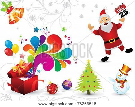 Abstract Artistic Christmas Elements Background