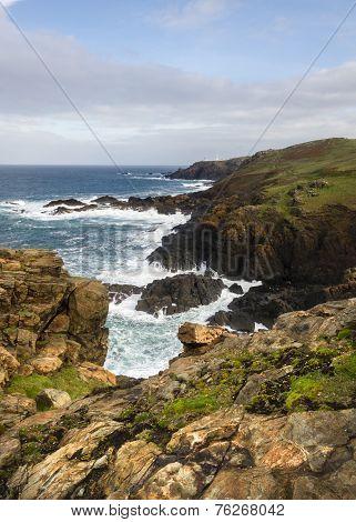 Historical Coastline Of Beautiful Cornwall