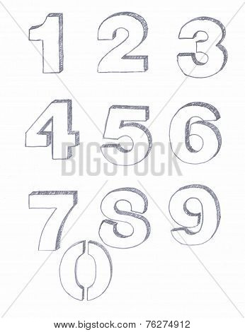 Penciled Numbers