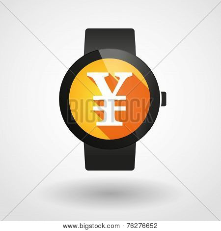 Smart Watch Icon With Bombs