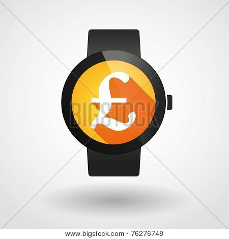 Smart Watch Icon With A Currency Sign