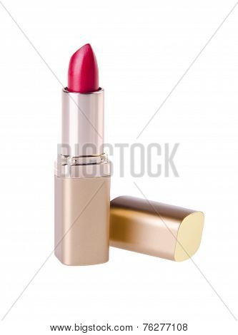 Close Up Of A Lipstick On Background.
