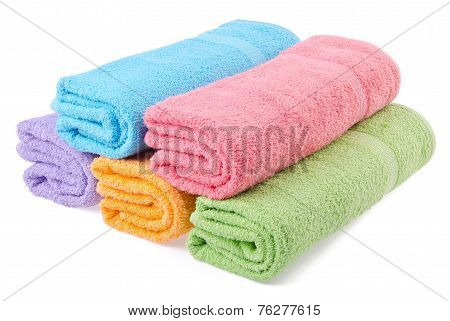 Towel, Bath Towel On Background.