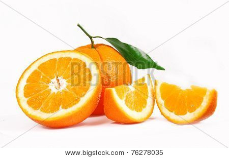 One Oranges And Half Juicy Half Oranges