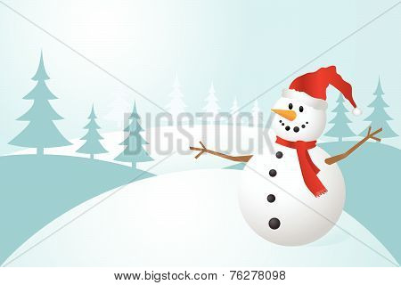 Snowman, vector illustration