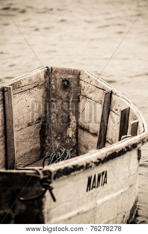 Little wooden boat