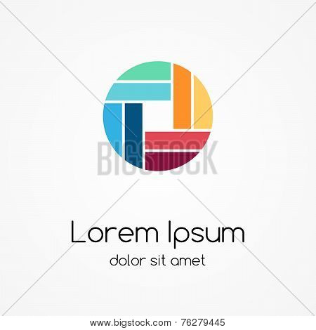 Logo template. Abstract circle sign, symbol. Design element.