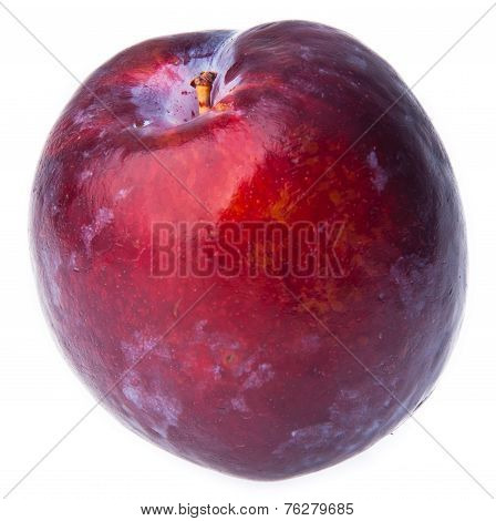 Plum. Ripe Plum Fruit On Background
