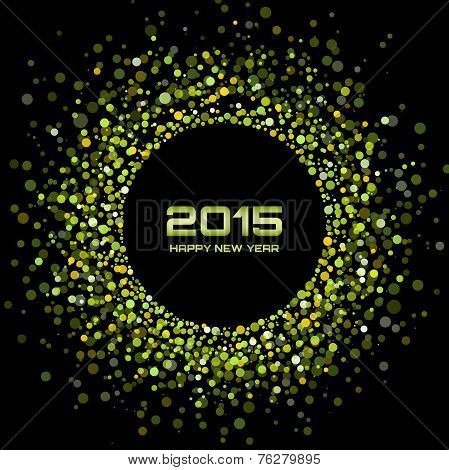 Green Bright New Year 2015 Background