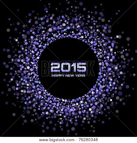 Violet Bright New Year 2015 Background