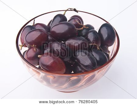 Grapes. Fresh Grapes On Background