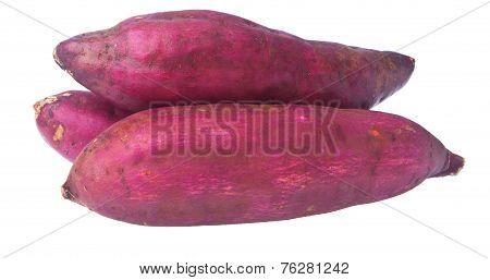 Sweet Potato On Background