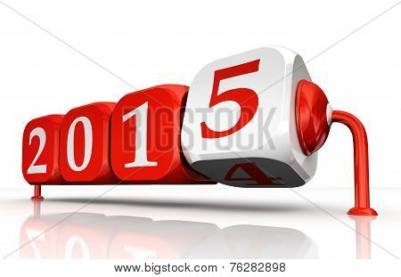 New Year 2015 Change Block Turn