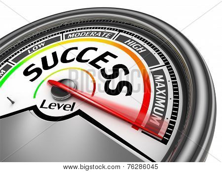 Success Conceptual Meter Indicate Maximum