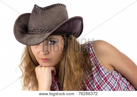 Photo of young cowgirl