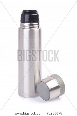 Thermo Flask On Background