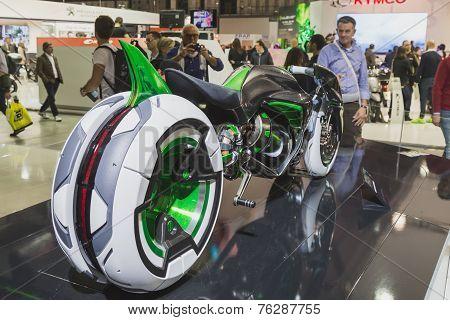 Kawasaki Futuristic Prototype At Eicma 2014 In Milan, Italy