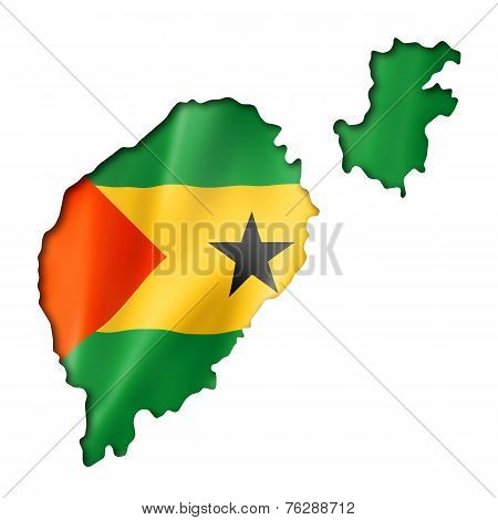 Sao Tome And Principe Flag Map