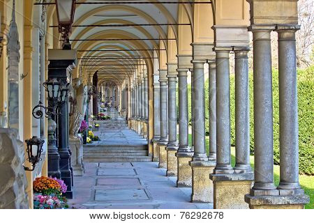 Monumental Architecture Of Mirogoj Cemetery Arcades
