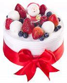pic of ice-cake  - cake Christmas ice cream cake on background - JPG