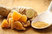 stock photo of home remedy  - Three kinds of ginger  - JPG