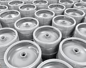 pic of keg  - Pallet of Beer Kegs isolated on white background - JPG