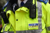 picture of police  - Closeup of Traffic Police Support Officer in city center - JPG