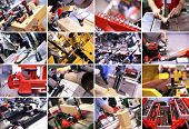 stock photo of mites  - Industrial collage - JPG