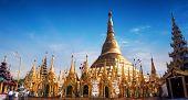image of yangon  - Amazing architecture of Shwedagon or Great Dagon Pagoda - JPG