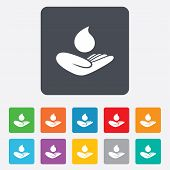 foto of save water  - Save water sign icon - JPG
