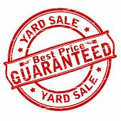 image of yard sale  - Rubber stamp with text yard sale inside vector illustration - JPG