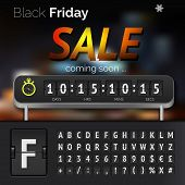 pic of countdown timer  - Black Friday sale countdown timer with alphabet - JPG