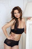 image of seduction  - picture of seductive woman in sexy lingerie - JPG