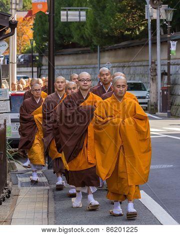 Japanese Monk in Wakayama Japan