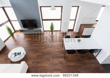 Interior With Wooden Parquet
