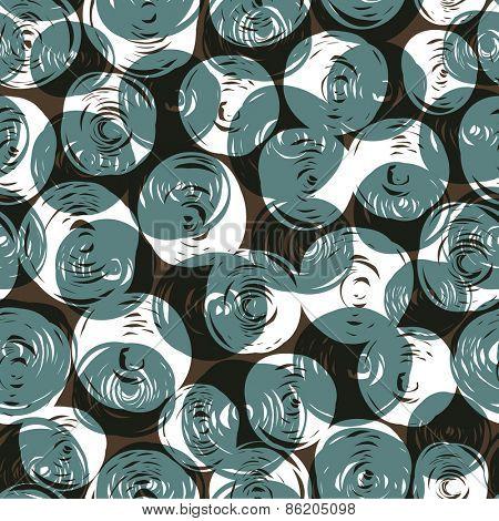 Seamless pattern (balls doodles)