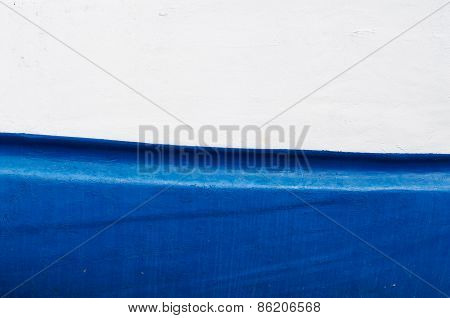 Blue And White Ship Hull
