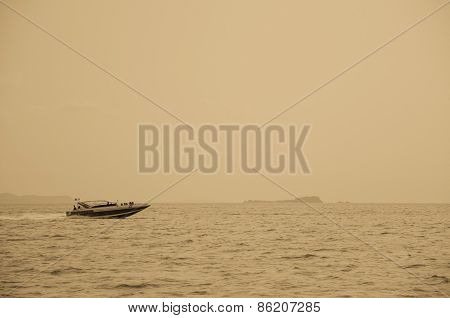 Speed Boat Sailing