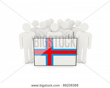 People With Flag Of Faroe Islands