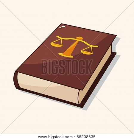 Law Book Theme Elements
