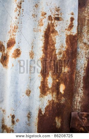 Rust Old Zinc Roof