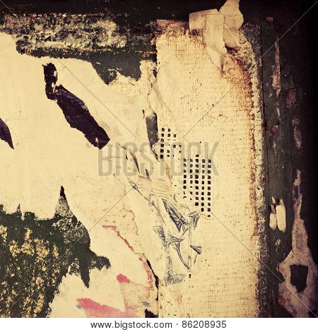 Old posters grunge textures and backgrounds