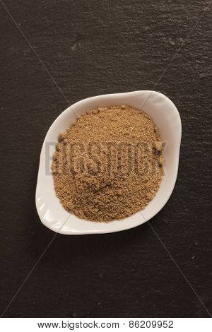 masala ( masale ) powder spice in a small cup, India